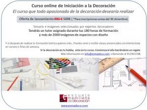 Curso online escuela madrileña de decoración