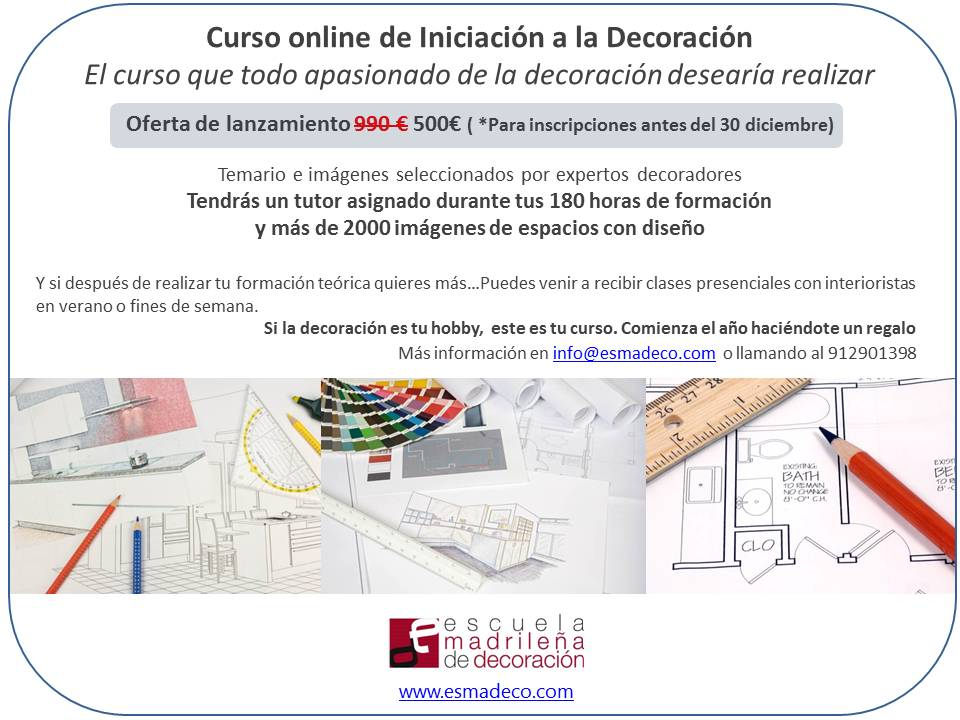 Sorteamos un curso de decoraci n for Cursos de decoracion online