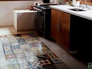 baldosa hidráulica suelo de cocina