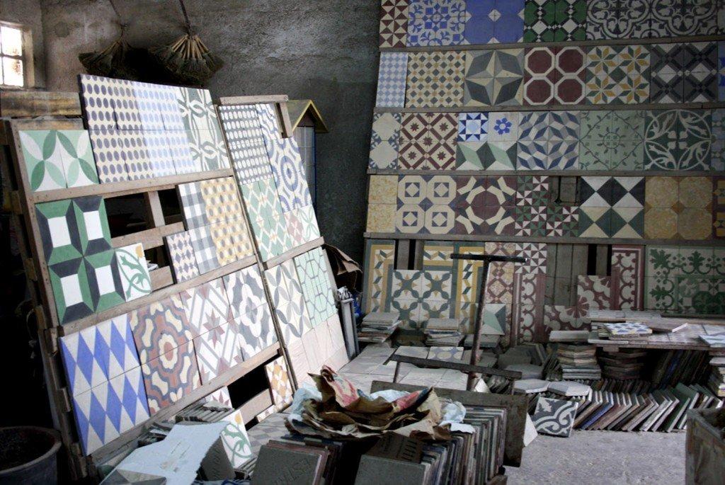 baldosa hidráulica escuela madrid decoración