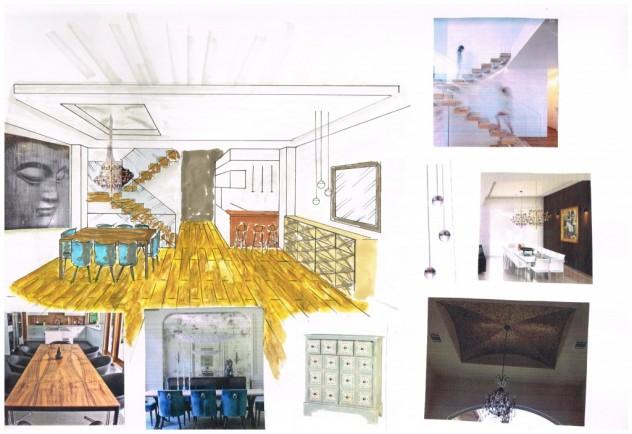dibujos alumnos curso semipresencial decoración esmadeco