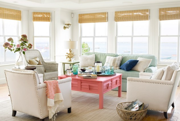 color coral decoración