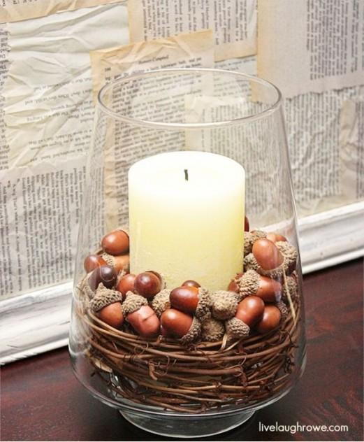 decoracion en otoño lampara natural