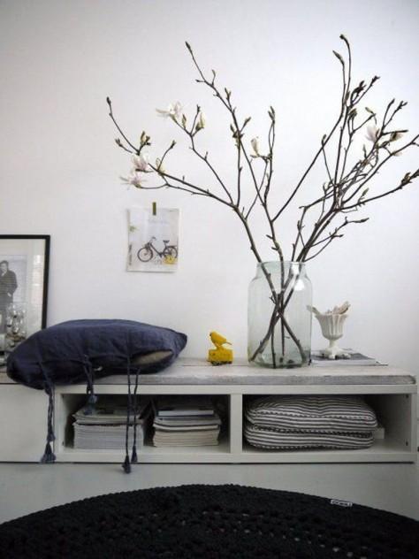 decoracion en otoño ramas en tarro