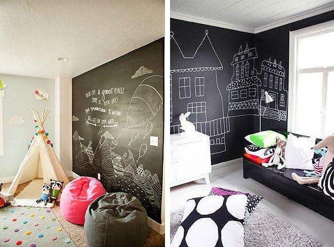 Recursos decorativos: paredes de pizarra