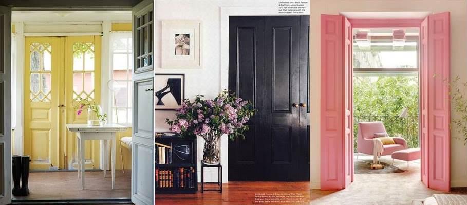 Decorar las puertas de tu casa con colores llamativos for De que color puedo pintar los marcos de las puertas