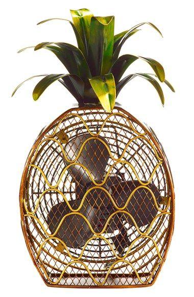 decoración con piñas ventilador