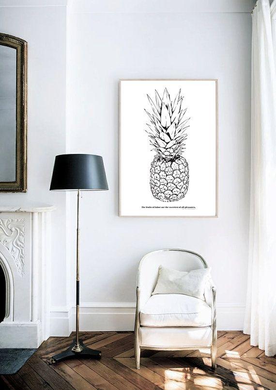 decoración con piñas en cuadro