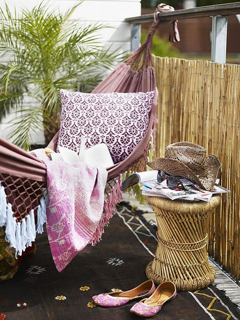 decoracion de terrazas con hamaca