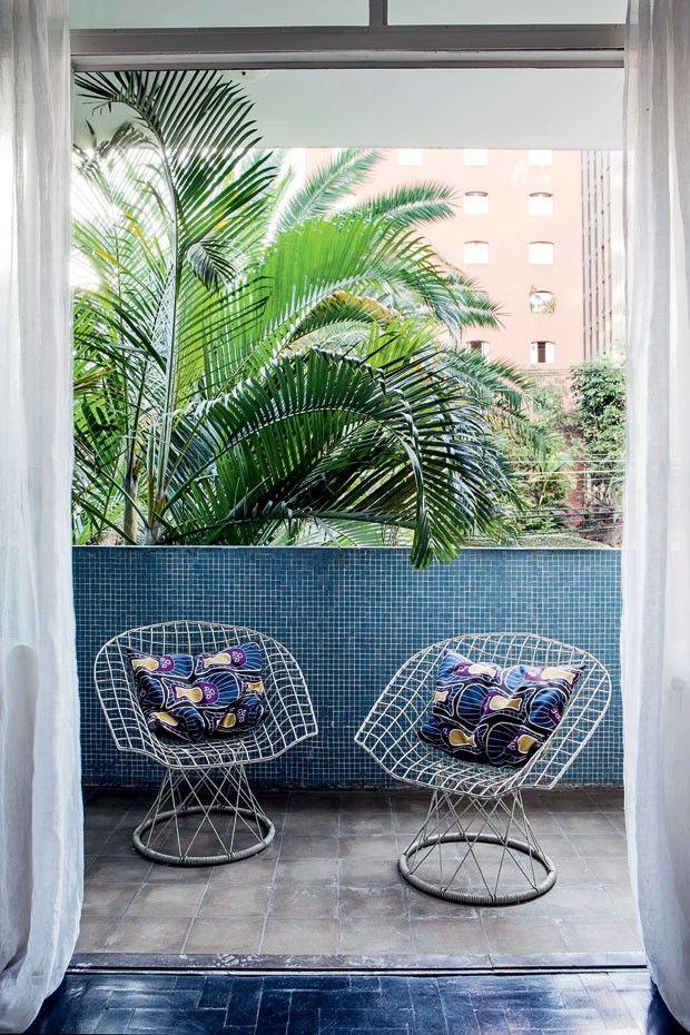 decoracion de terrazas azul