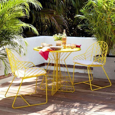 decoracion de terrazas amarillo