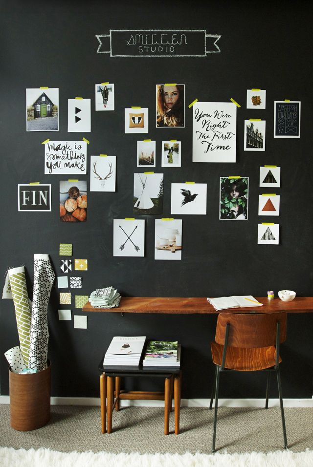 Ideas para decorar pared oscura