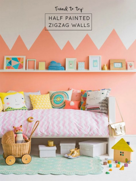 dormitorio infantil naranja