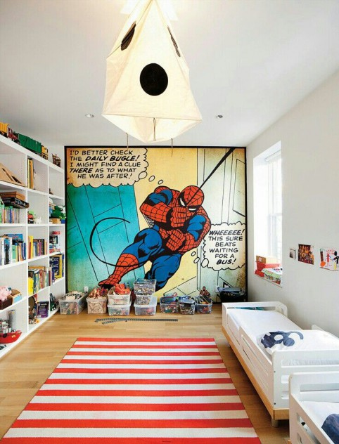dormitorio infantil spiderman