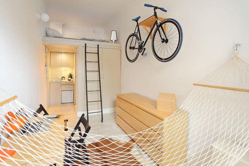 Espacios reducidos: apartamento de 13m2 en Polonia