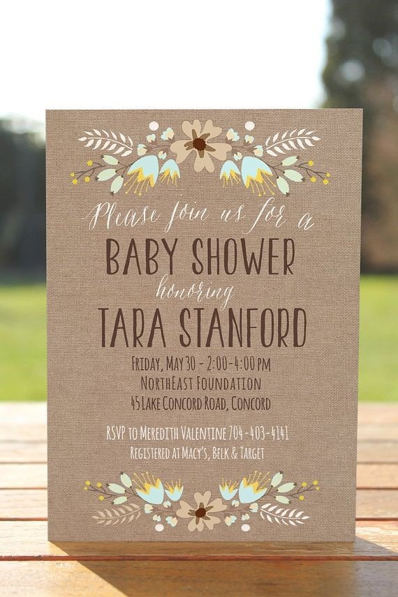 baby shower invitacion