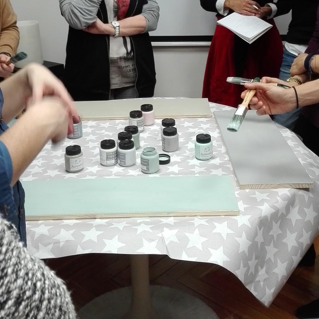 demostracion de chalk paint
