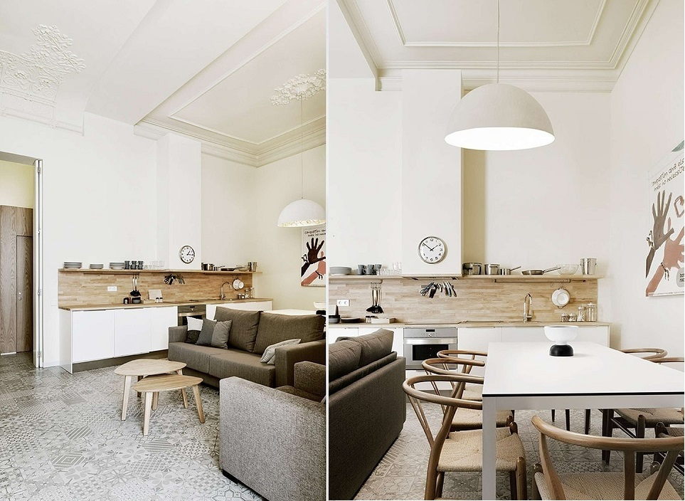 Sala y cocina concepto abierto for Interiores de cocinas