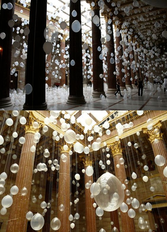 decorar con globos transparentes