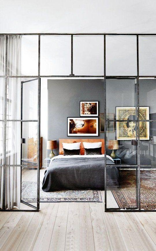 dormitorio estilo loft
