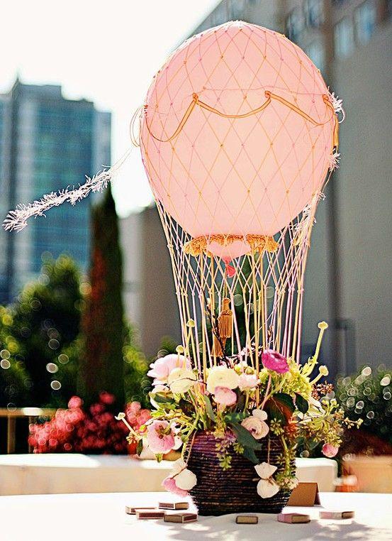 decorar con globos centro de mesa