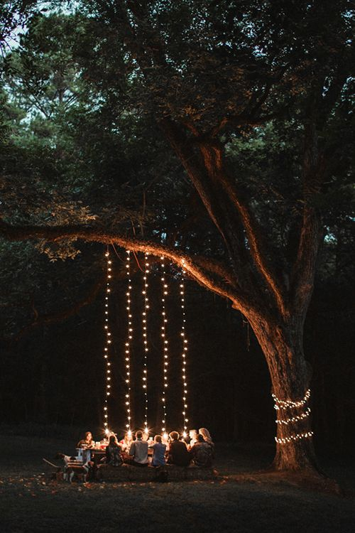 decoracion exterior con luces