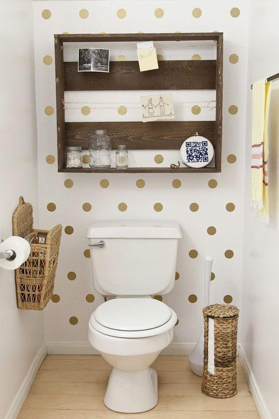 paredes de baño con vinilo de circulos