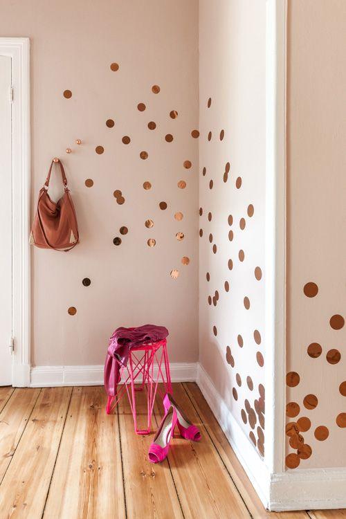decorar paredes con vinilos circulares