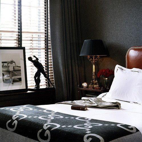 interiorismo masculino dormitorio