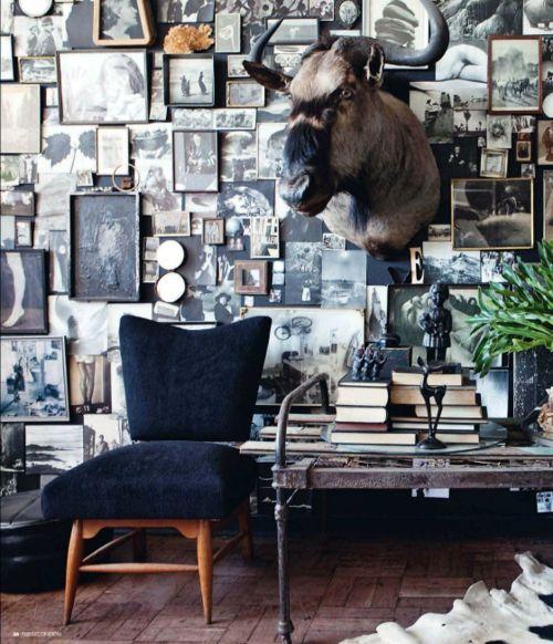 interiorismo masculino paredes vintage