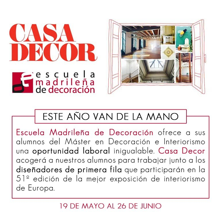 casa decor 2016 y escuela madrileña de decoracion