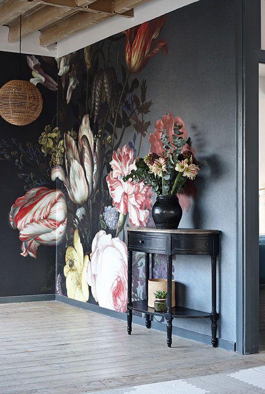 flores de gran formato tono oscuro
