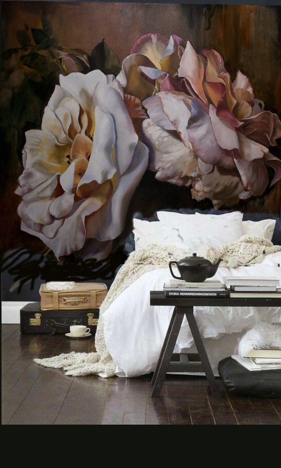 flores de gran formato vintage