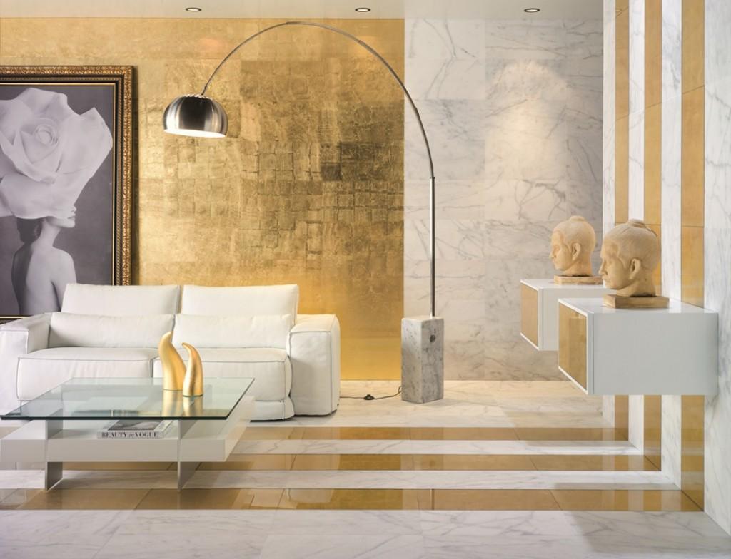 habitacion decorada color oro