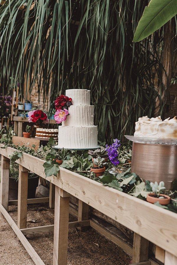 las flores banquete tarta de boda