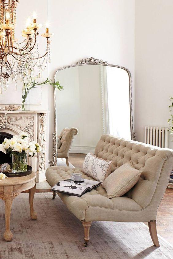 inspiracion parisina sofa y espejo
