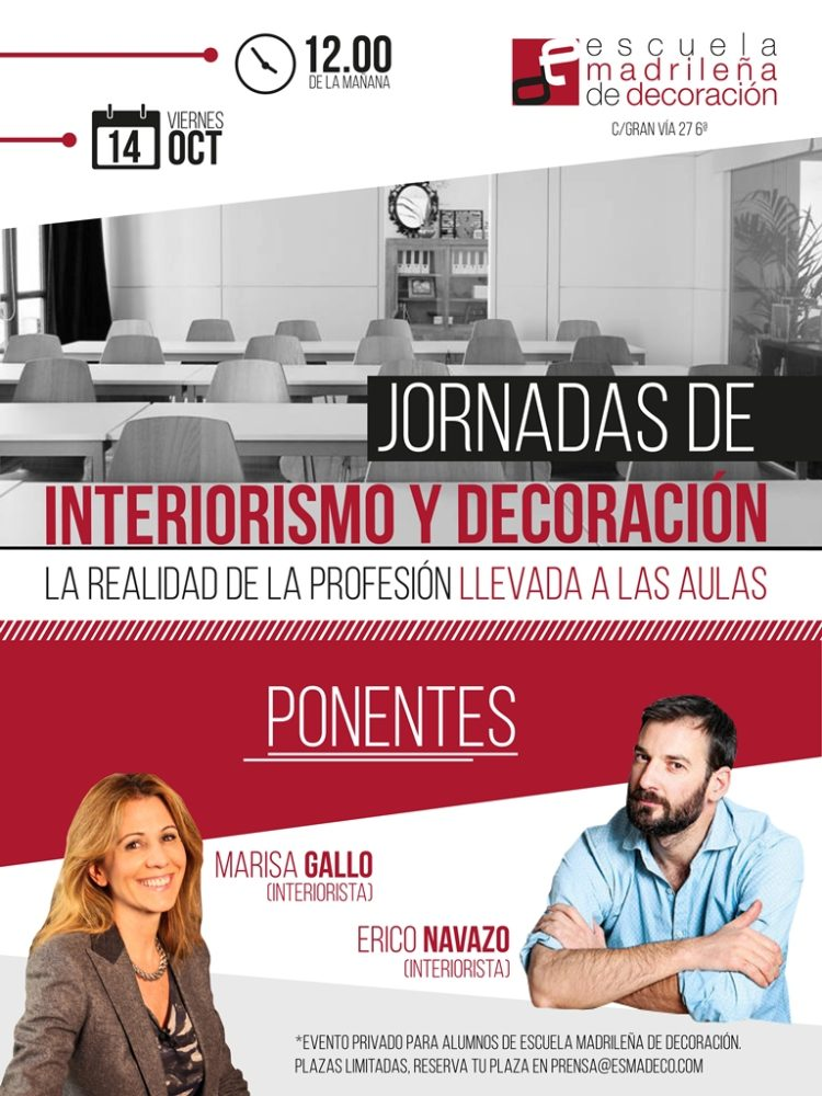 Jornadas interiorismo y decoraci n escuela madrile a de for Interiorismo y decoracion