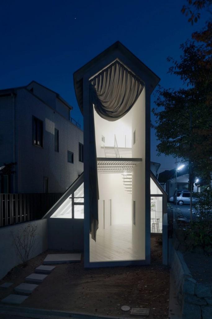 o house casa japonesa de noche