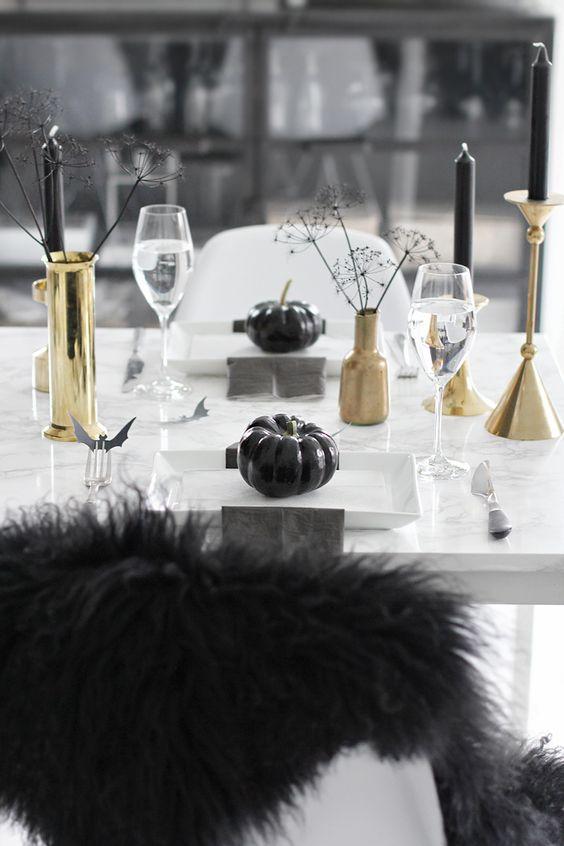 mesa decoracion de halloween