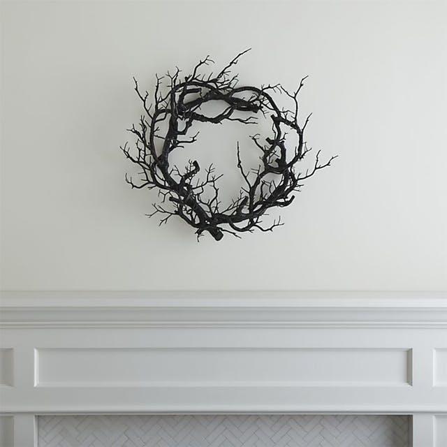 corona decoracion de halloween