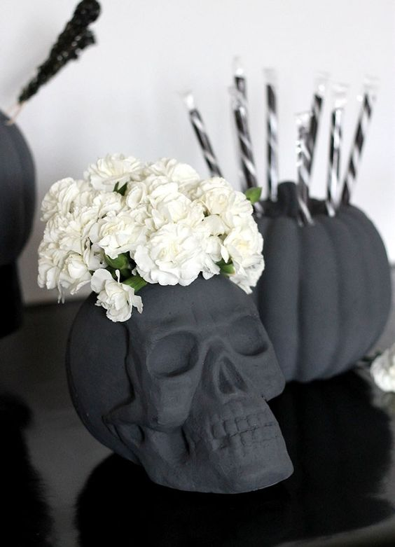 calaveras decoracion de halloween