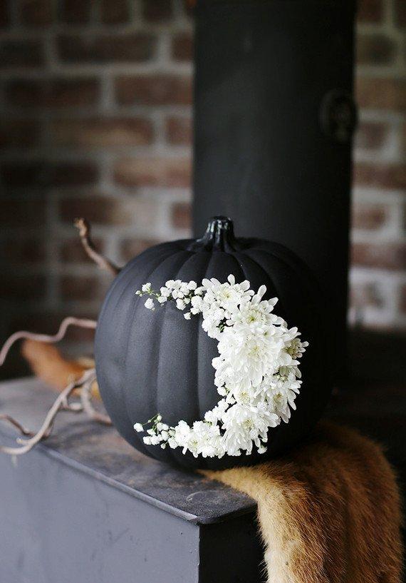 calabaza negra decoracion de halloween