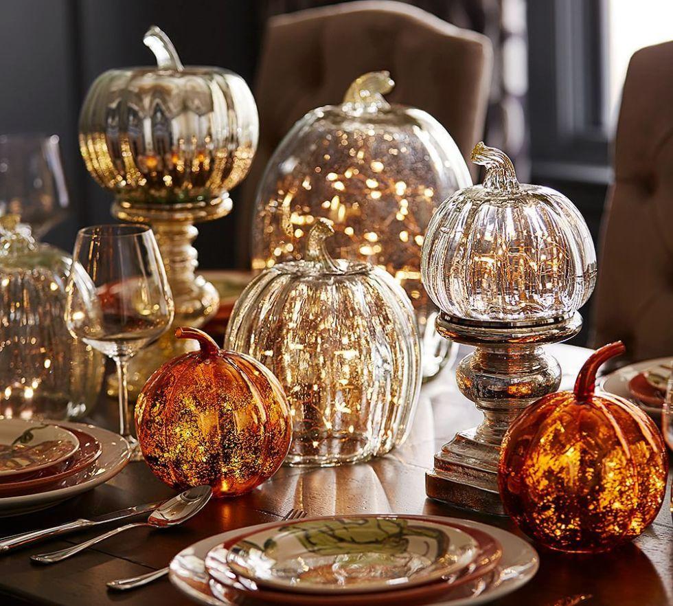 calabazas de cristal decoracion de halloween