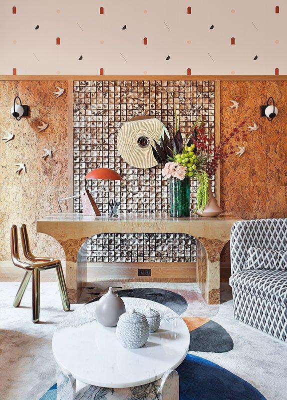Revestimiento de paredes con corcho