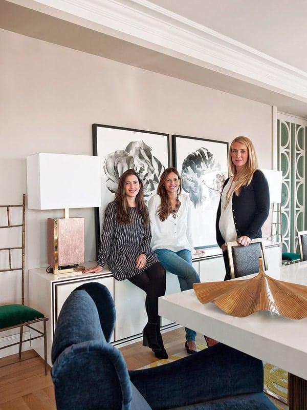 Nuria Alia, Miriam Alia y Patricia Bustos. Living Pink