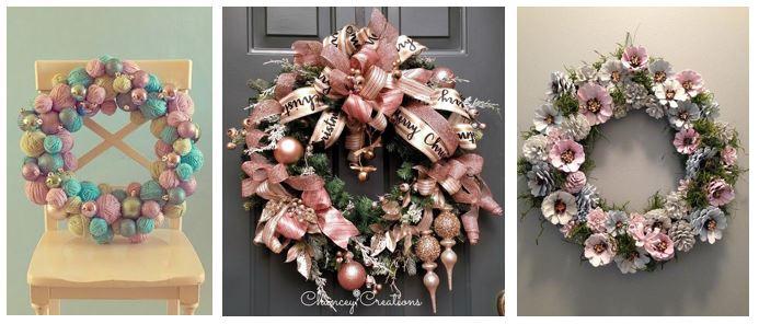 Decoración navideña rosa y zero waste